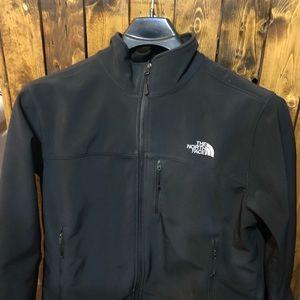 EUC North face black shell jacket large